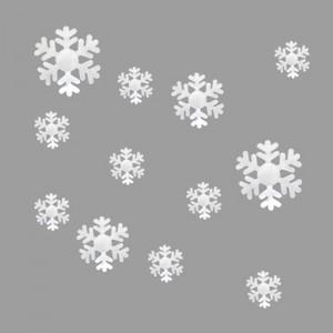 Set 12 glans ijskristallen/sneeuwvlokken wit