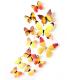 Set 12 deco-glans vlinders geel