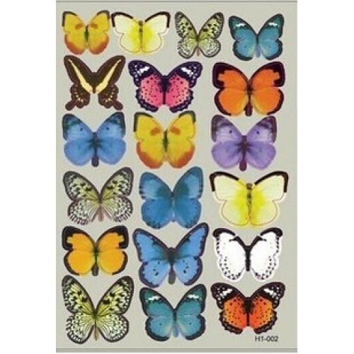 Set 19 deco vlinders blauw geel gemengd - Deco gemengde kamer ...