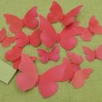 Set 12 vlinders fel rood