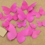 Set 12 vlinders fel roze