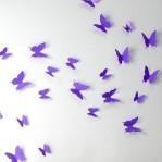 Set 12 glans vlinders paars