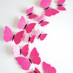 Set 12 vlinders soft roze