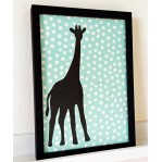 Behangdeco Giraffe -to frame- 21x30