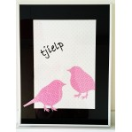 Behangdeco Vogels tjielp -to frame- 30x40