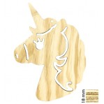 Decowood - Houten unicorn 29x20