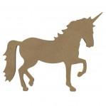 Paard / Unicorn L MDF Gomille 26x26