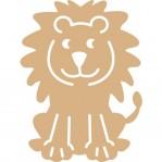 Leeuw cartoon - MDF 24x19