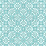 B47 - aquablauw bloemmotief