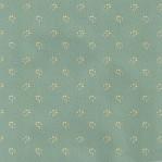 V04 - Vintage behang - petrol groen met geel motief