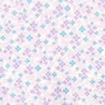 B61 - paars/blauw bloemmotief