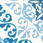 B65 - Blauw-wit barok motief