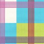 RS01 - Ruit groen/blauw met roze en paarse strepen