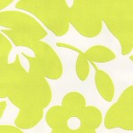 GR61 - Groen wit floraprint