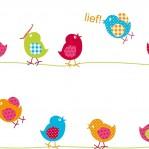 RZ99 - LIEF! vogels op touw