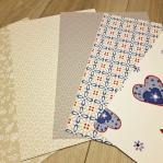 Behangvellenpakket (5) - Cozz grijs/blauw