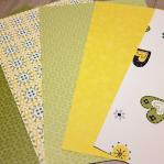 Behangvellenpakket (5) - Cozz groen/geel
