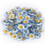 Kunststof bloem 3,5cm  5 stuks - blauw