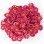 Kunststof bloem 3,5cm  5 stuks - fuchsia