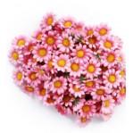 Kunststof bloem 3,5cm  5 stuks - roze