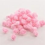 Foam roosje 2cm 5 stuks - roze-licht