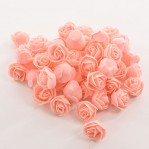 Foam roosje 2cm 5 stuks - roze-oud
