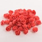 Foam roosje 2cm 5 stuks - rood