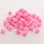 Foam roosje 2cm 5 stuks - roze