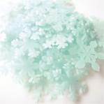 Lichtgevende ijskristallen 3cm blauw - 10 stuks