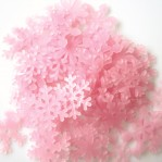Lichtgevende ijskristallen 3cm roze - 10 stuks