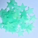 Lichtgevende sterren 3cm blauw - 10 stuks