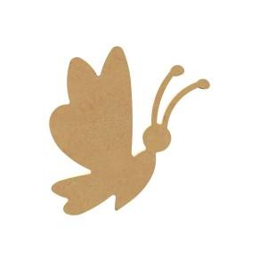 Vlinder cartoon MDF Gomille 15x13