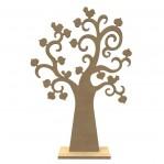 Hartenboom-vogels MDF met voet XL - Gomille 56x37