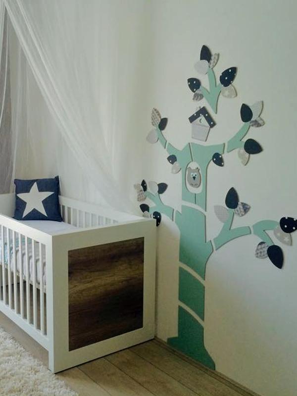 Xxxl mdf bomen for Muurdecoratie babykamer